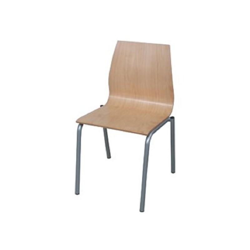 Silla para colectividades de 4 patas en madera modelo jupiter for Sillas para oficina sin ruedas