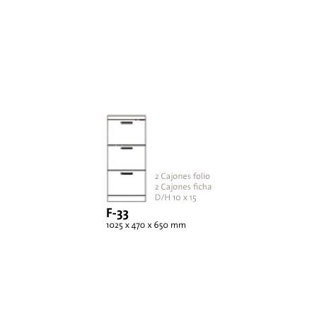 Archivador 3 Cajones Folio
